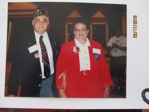 VIRGIL WITH WIFE MARY AT THE 1995 DEPARTMENT CONVENTION IN DULUTH