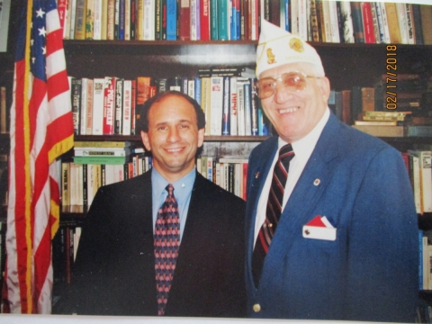 STATE COMMANDER VISITS SENATOR WELLSTONE'S OFFICE