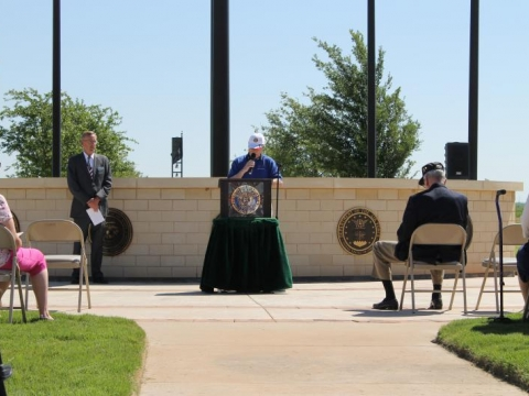 Camp Barkeley Flag Pole Rededication at Veterans Cemetary