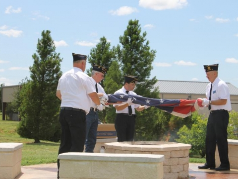 Flag Day Flag Disposal Ceremony 2015