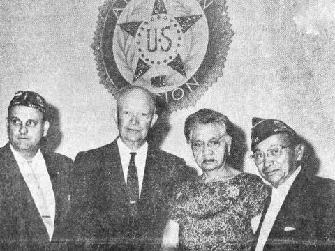 President Eisenhower Dedicates American Legion Post 739