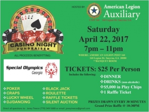 Casino Night for Special Olympics 2017