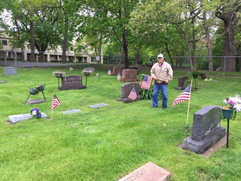 Woodbury American Legion Post 501 places Flags at Woodbury Cemeteries