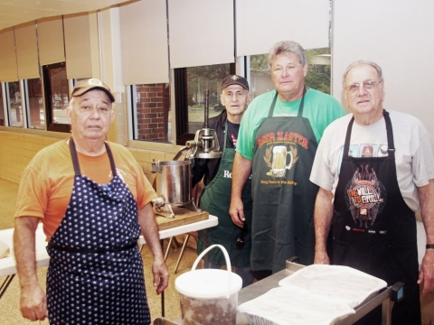 2019, 03-10. Post 307 Members doing volunteer work in community. In this case, post members volunteer to participate in the St. Joseph Cookie Sunday preparing and baking for the St. Joseph celebration on March 19, 2019.