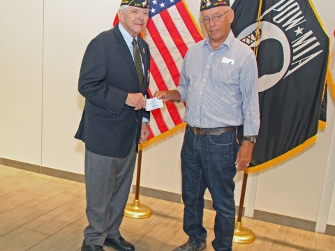 Post 307 makes donation to The World War II Museum in New Orleans, La for their
