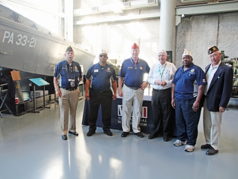 National Commander Visits WW II Museum in New Orleans La.