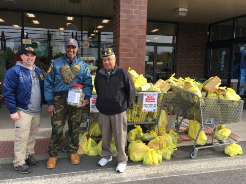 VA Montrose Food Pantry Drive - ShopRite Thornwood, NY - Dec. 2-3, 2017