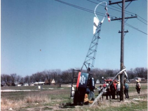 April 21, 1961 helicopter crashes on Legion grounds.