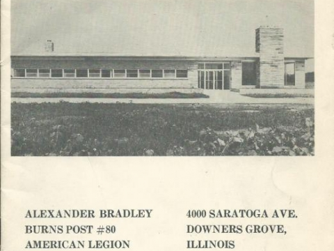 September 23, 1961 Dedication of the newPost 80 Home.