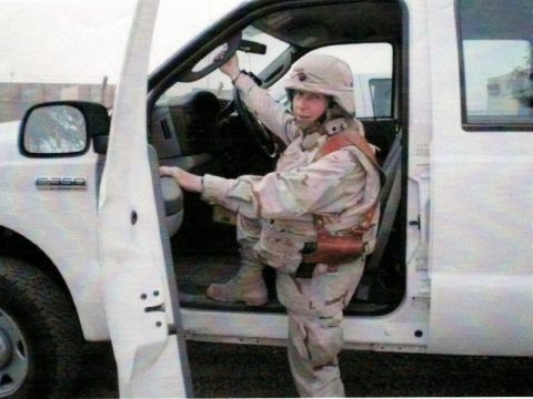 Post member LTC Wendy Tomczak deployed to Iraq 2007