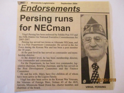 PERSING RUNS FOR NECman