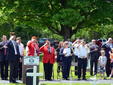 Memorial Day Service and Gold Star Mothers and Families Monument Dedication 2016