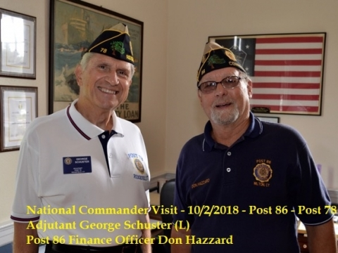 National Commander Brett Reistad Visits Post 86
