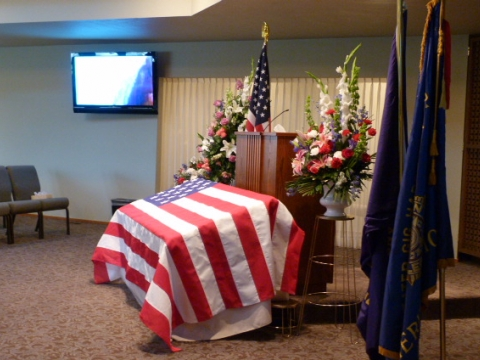 Memorial Service for 1st Vice Cmdr Bill Rollf