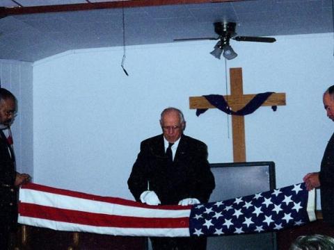 Flag Folding Ceremony - Post # 187