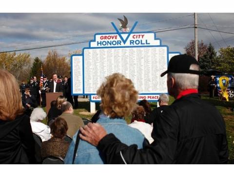 Dedication of Post WWII Memorial