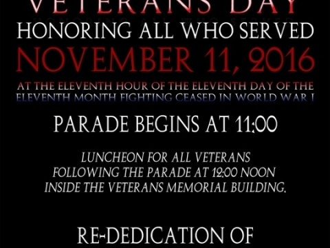 Re-Dedication Of Veterans Building