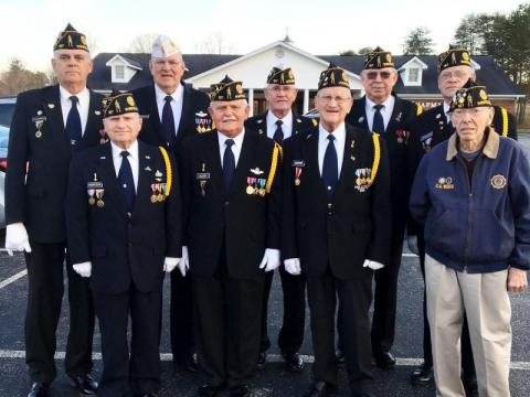 Honoring Past Commander Clem J. Pemberton - 9 March 2017
