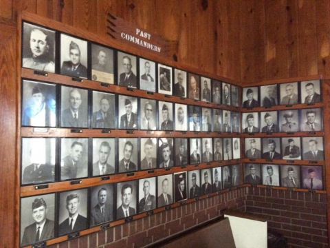 First wall of Past Post Commanders starting in 1919