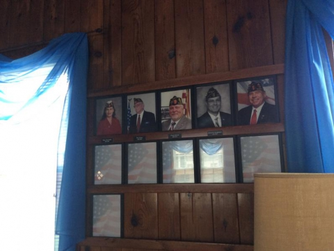 Third wall of Past Post Commanders