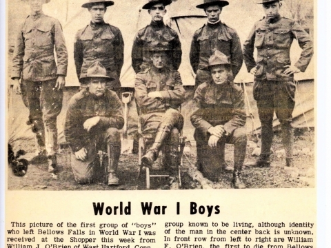 WWI veterans from Bellows Falls