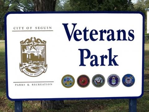 Veterans Park in Seguin