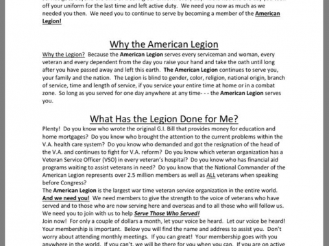 Why should you join the American Legion