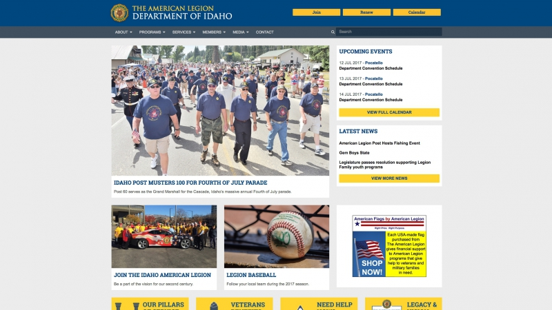 Department Spotlight: Idaho creates website that mirrors national's