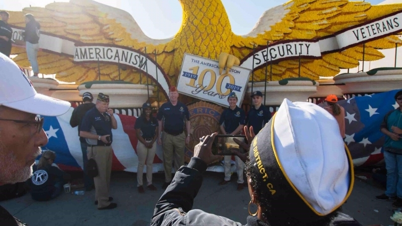 American Legion Family Rose Parade float comes 'alive'