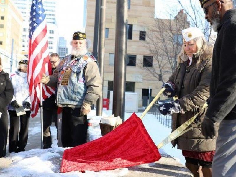 Plaque commemorates 100th American Legion national convention