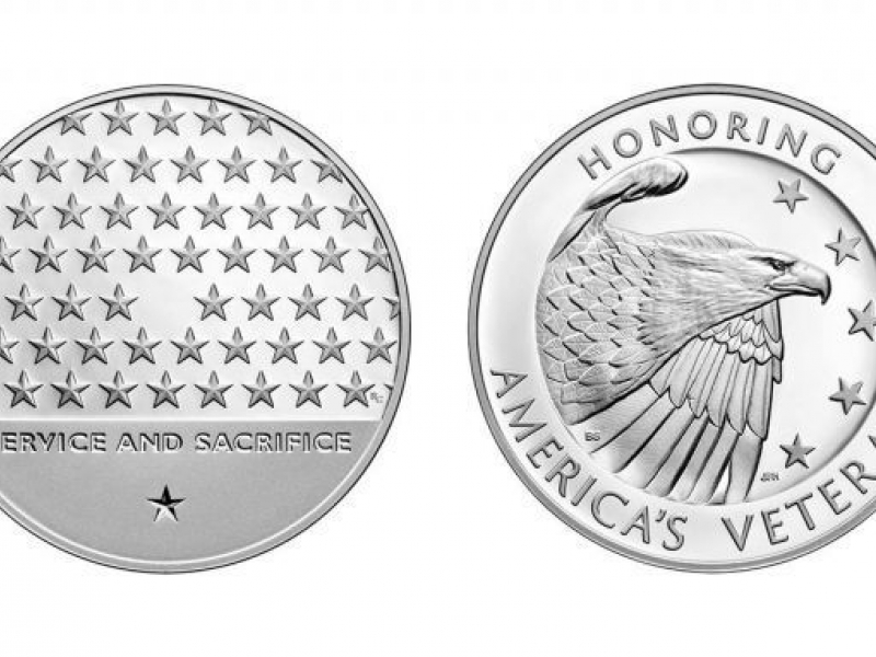 Legion silver dollar coin and veteran medal set almost sold out