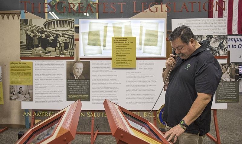 GI Bill exhibit begins stint at George H.W. Bush Library