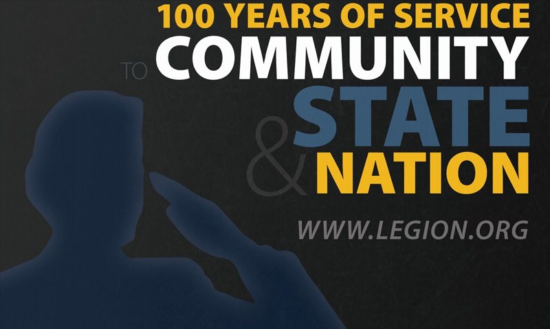 Display the Legion's 100 years of service
