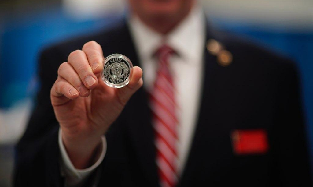 Mint hosts first strike of American Legion commemorative coin