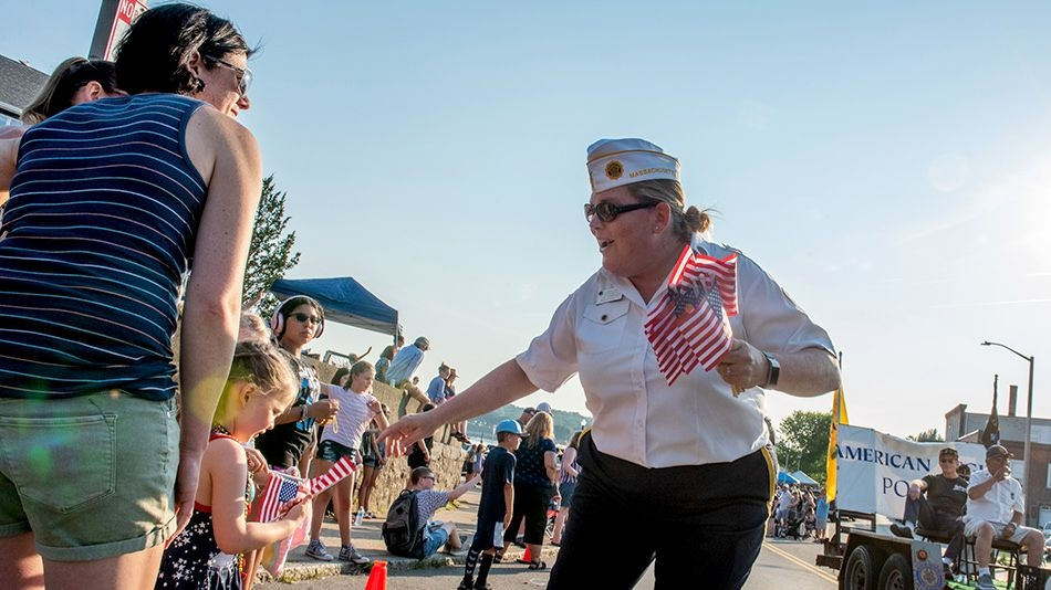 Massachusetts post celebrates centennial in Horribles Parade