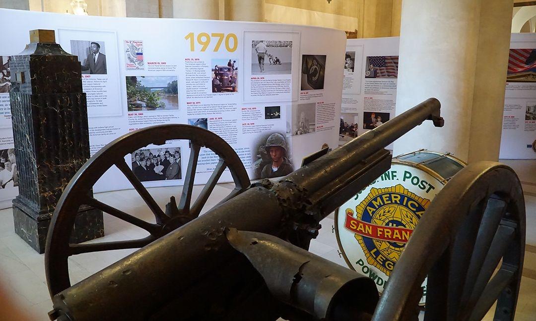 Centennial chronology on display at historic San Francisco War Memorial Veterans Building