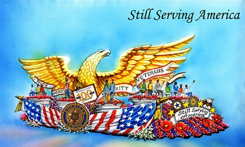 American Legion float has prominent position in Rose Parade