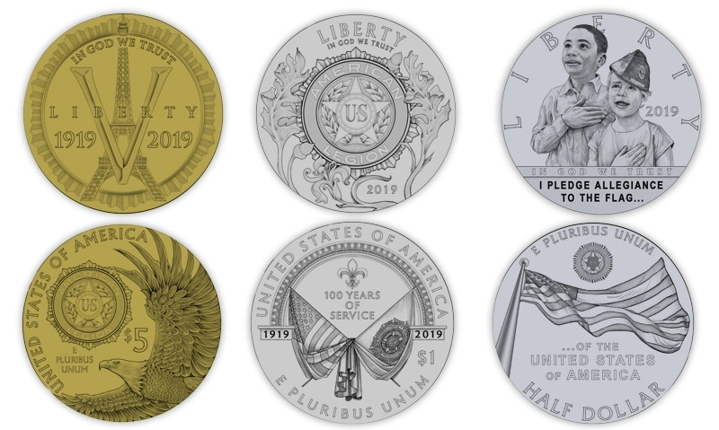 U.S. Mint unveils Legion centennial coin designs