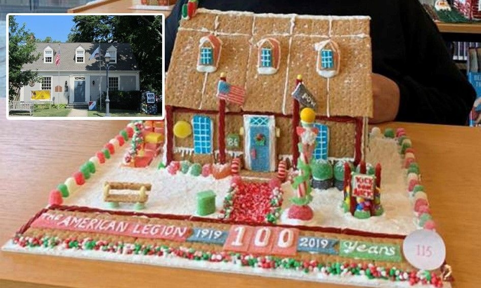 Gingerbread house reflects Connecticut post's legacy